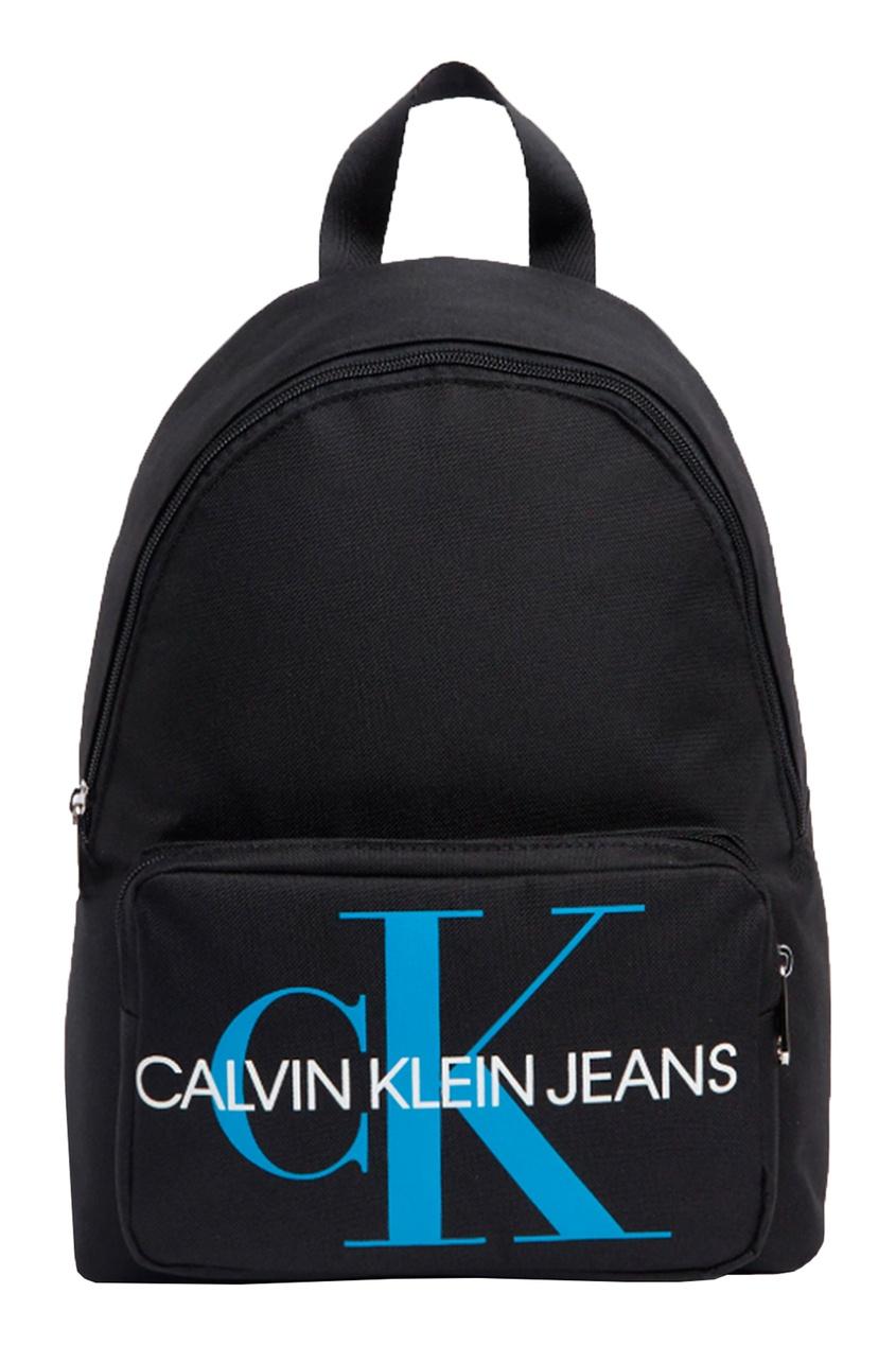 Черный рюкзак с закругленным верхом Calvin Klein Kids