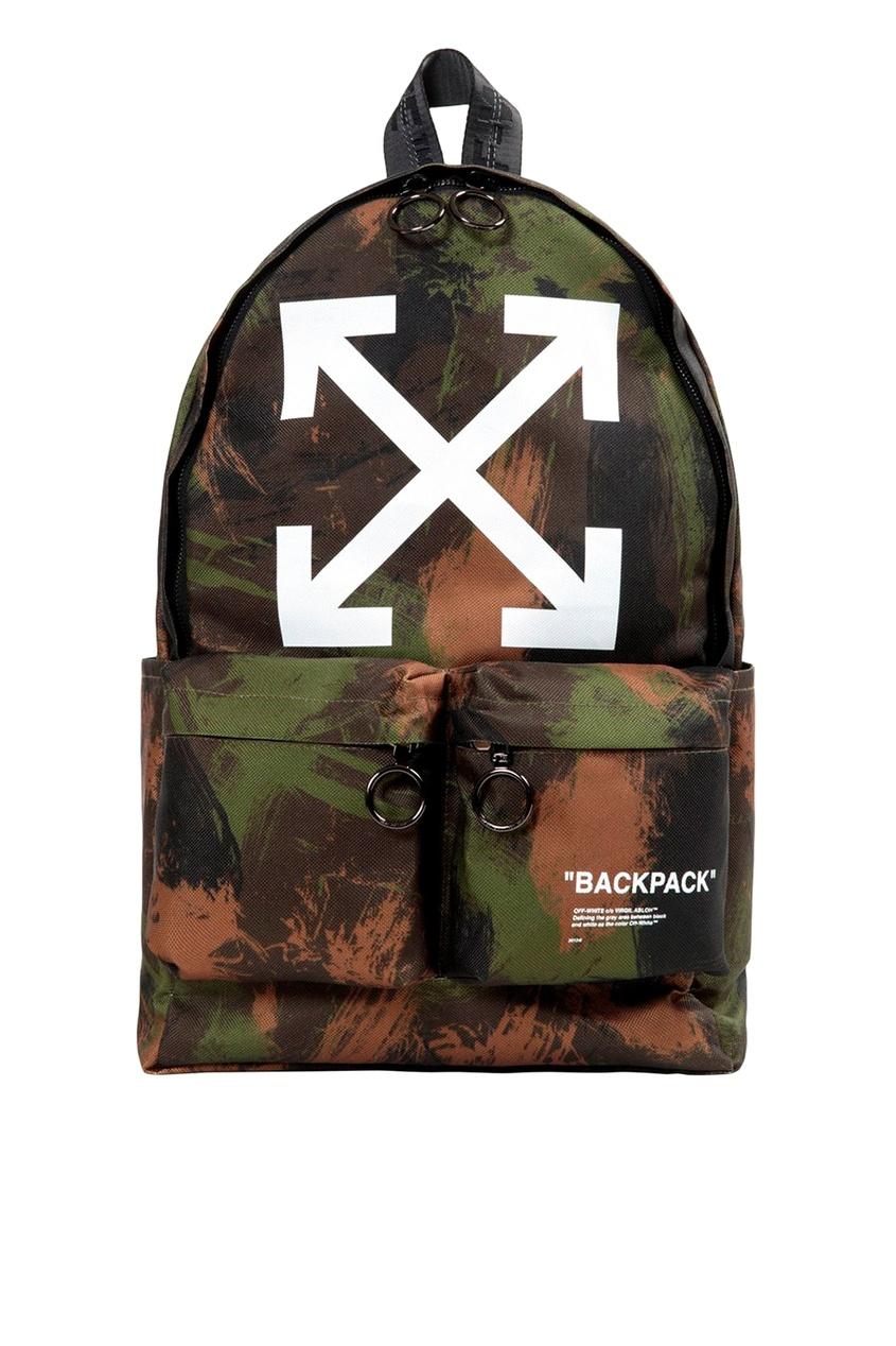 мужской рюкзак off-white, зеленый