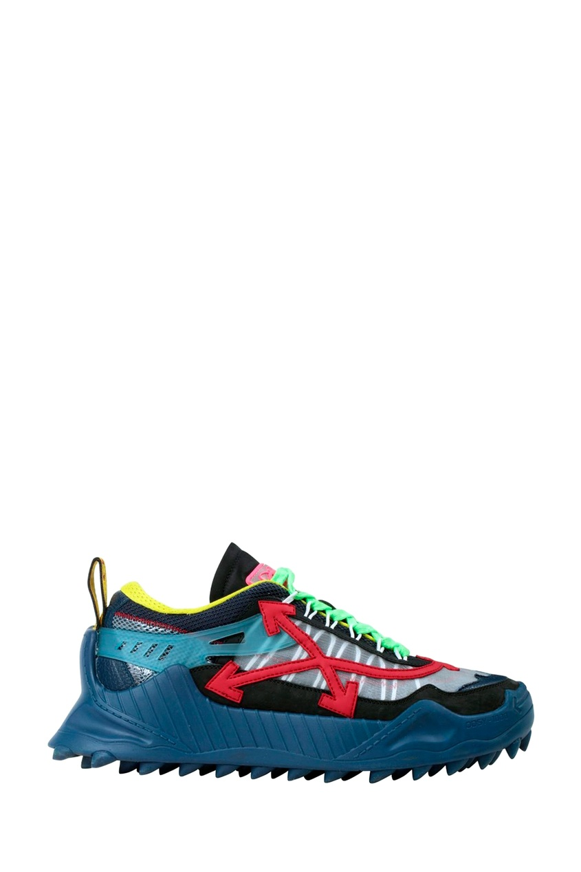 мужские кроссовки off-white, синие
