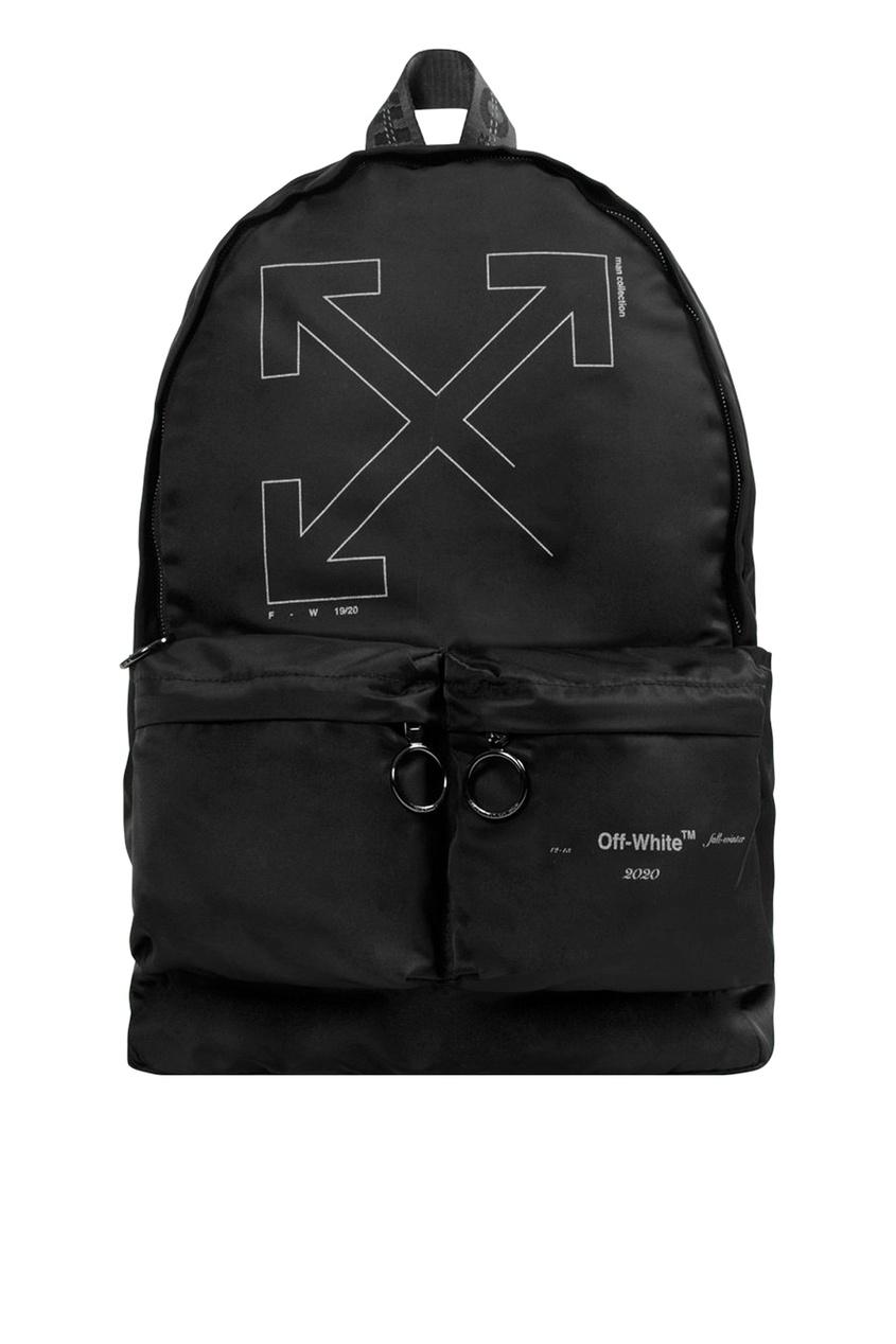 Купить со скидкой Черный рюкзак с накладными карманами