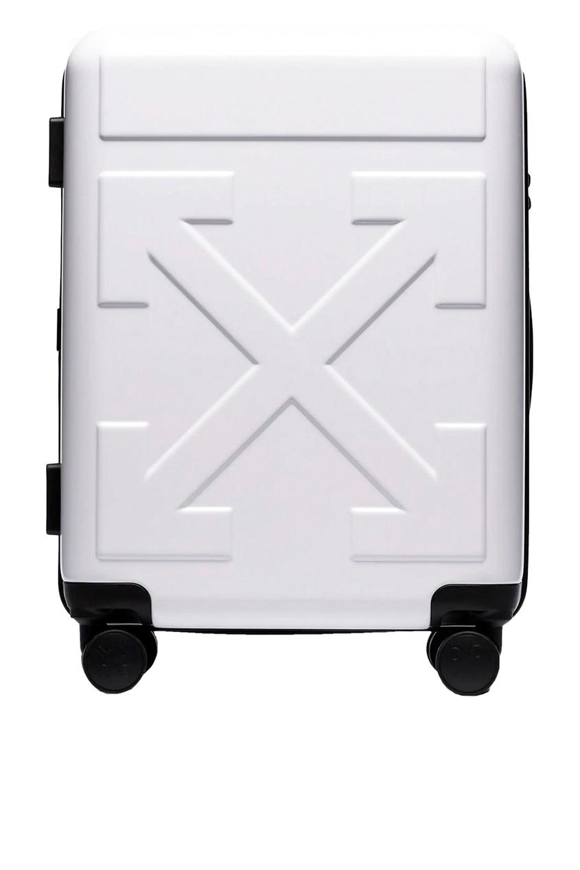 Купить со скидкой Белый дорожный чемодан