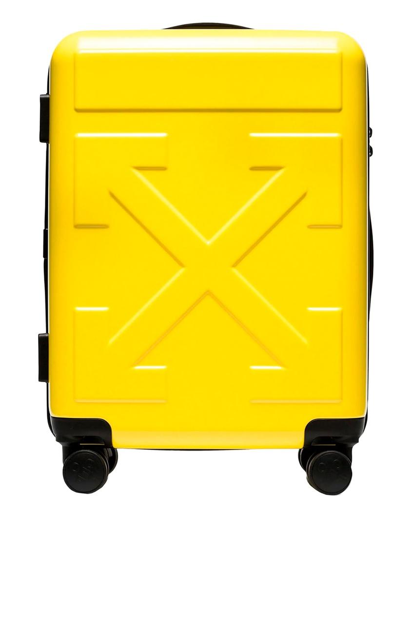 Купить со скидкой Желтый дорожный чемодан