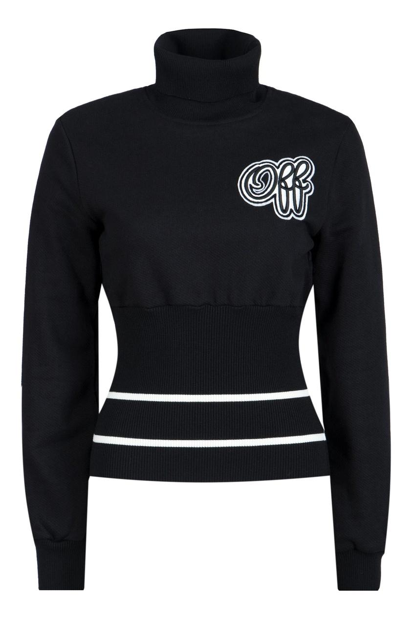 женский свитер off-white, черный