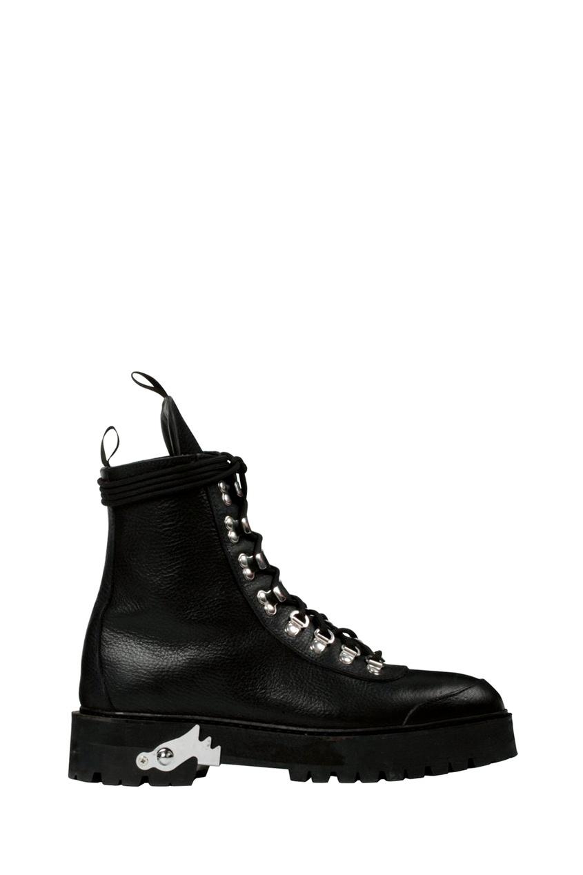Купить со скидкой Высокие черные ботинки