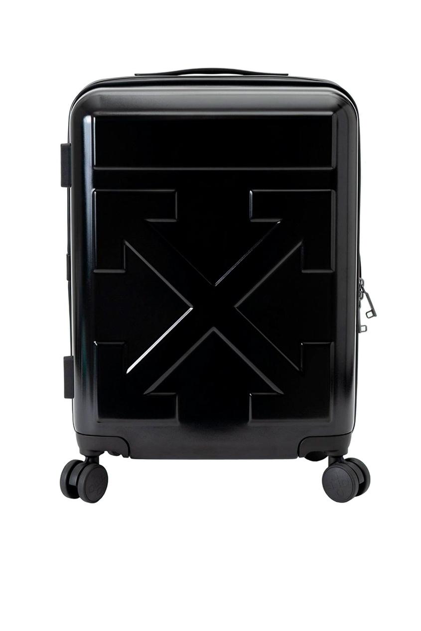 Купить со скидкой Черный дорожный чемодан с логотипом