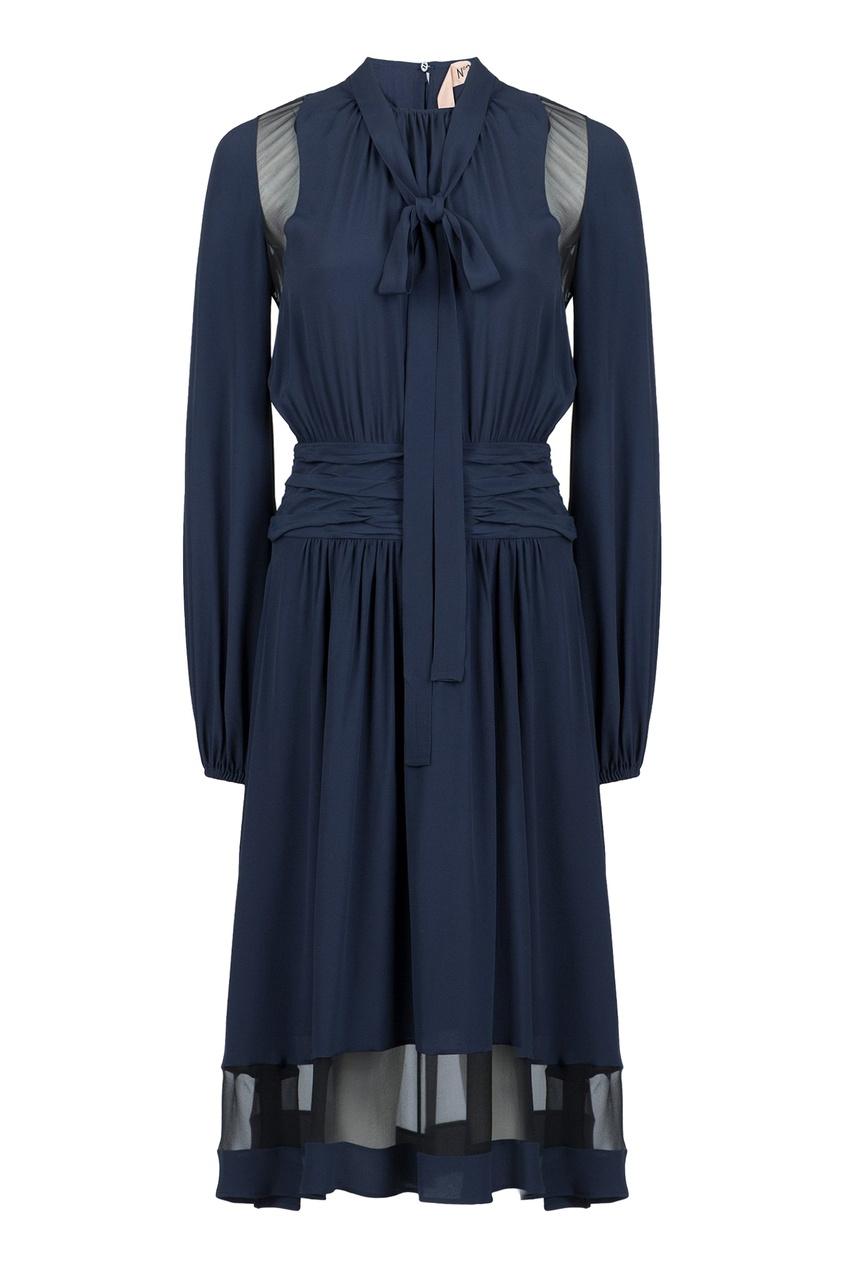 женское платье no.21, синее