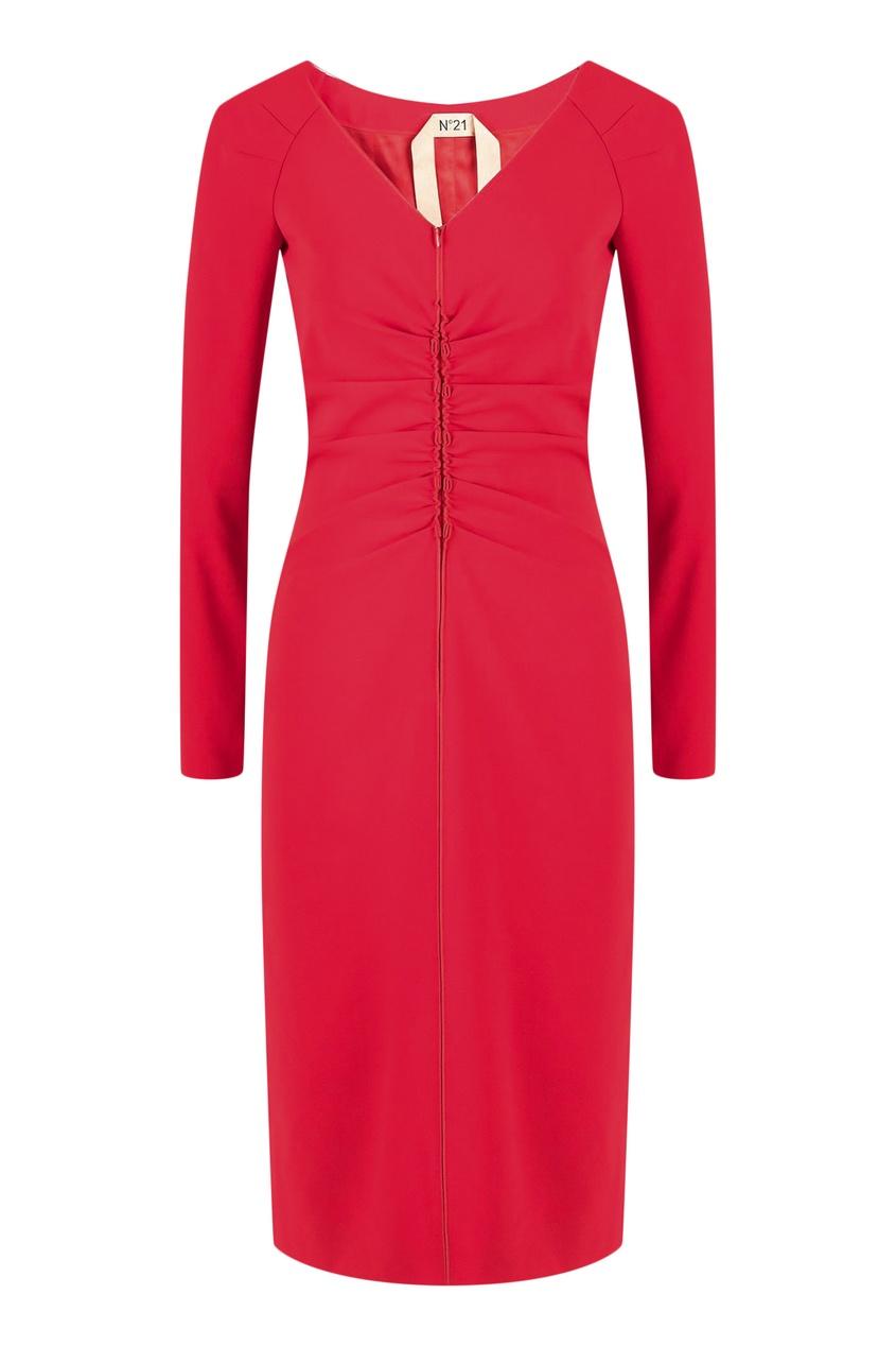 женское платье no.21, красное