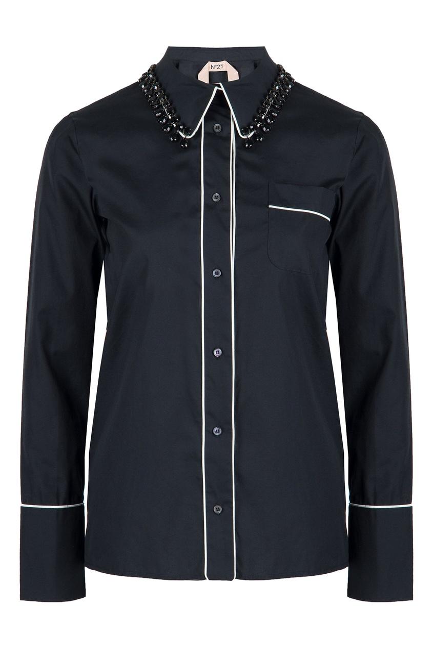 женская рубашка no.21, черная