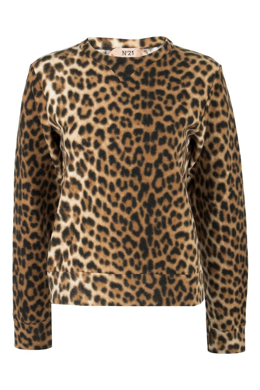 женский свитшот no.21, леопардовый