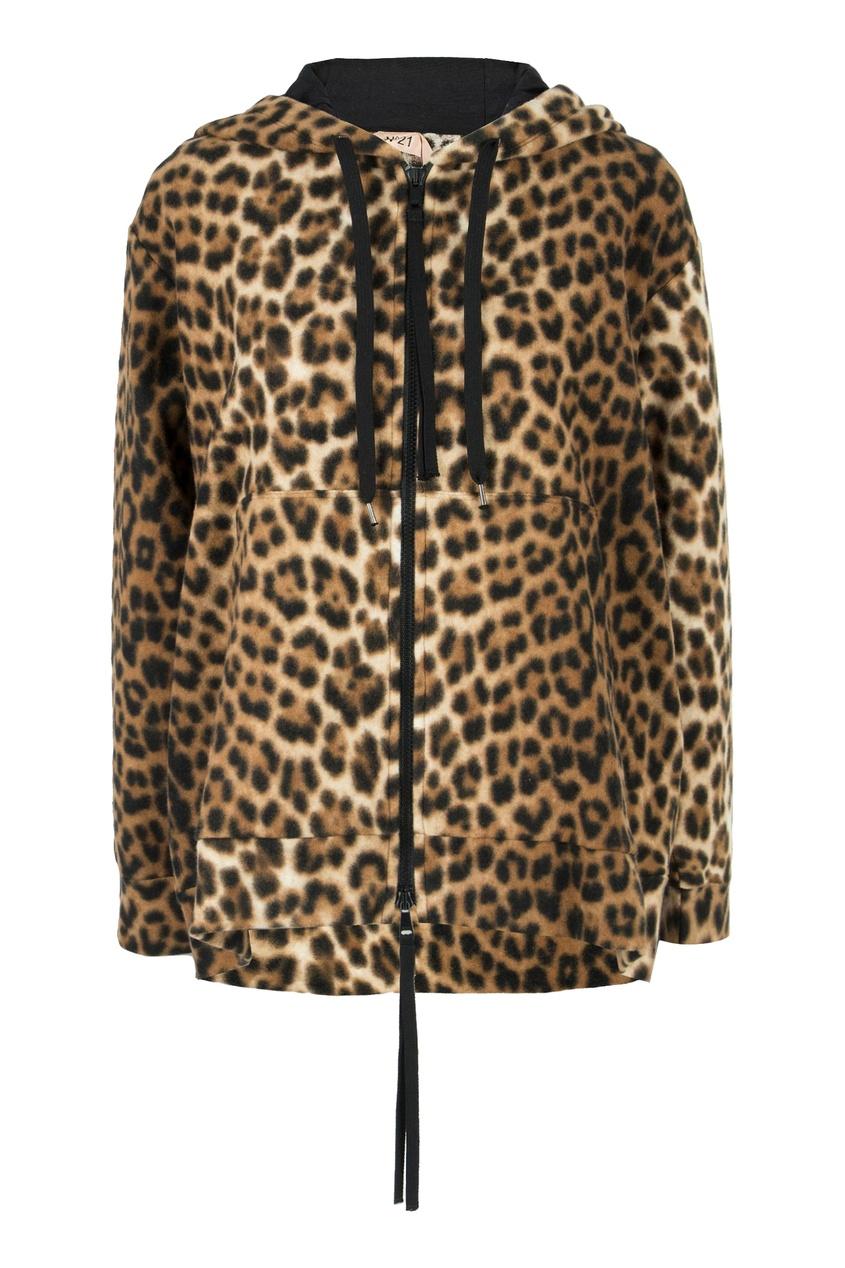 Купить со скидкой Худи с леопардовым принтом