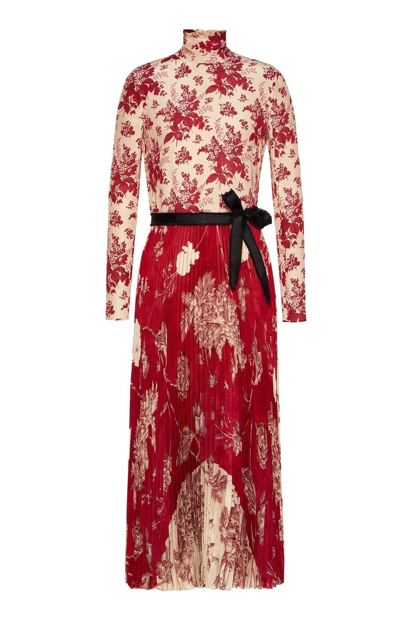 женское платье макси red valentino, красное