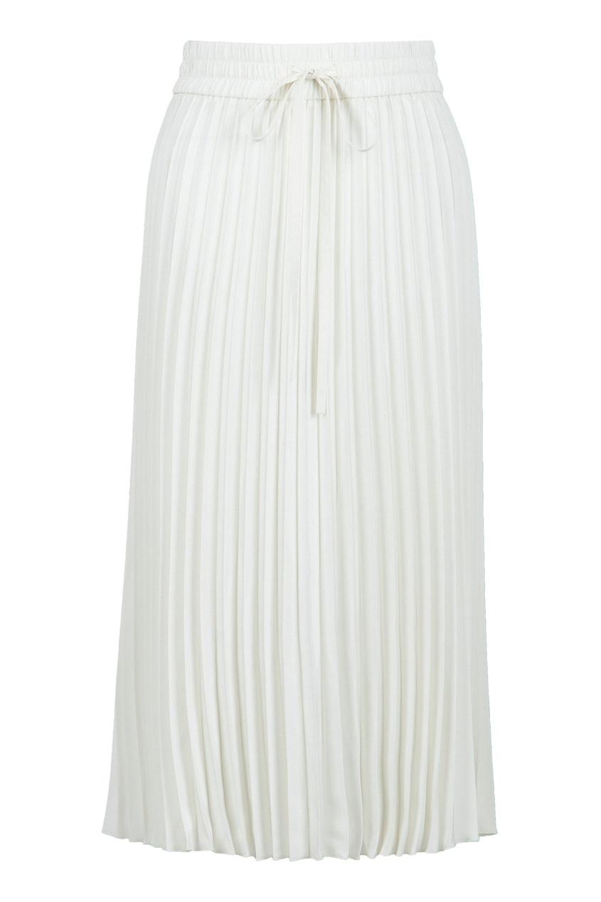 женская юбка миди red valentino, белая