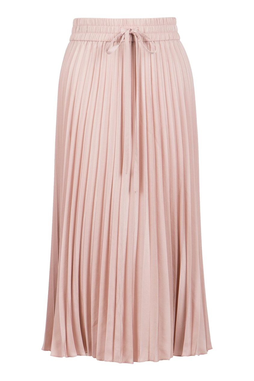 женская юбка миди red valentino, розовая