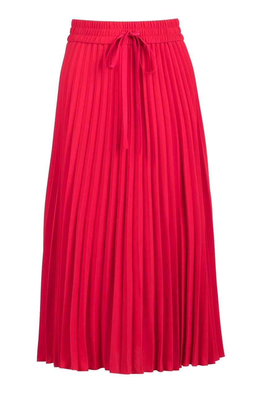 женская юбка миди red valentino, красная