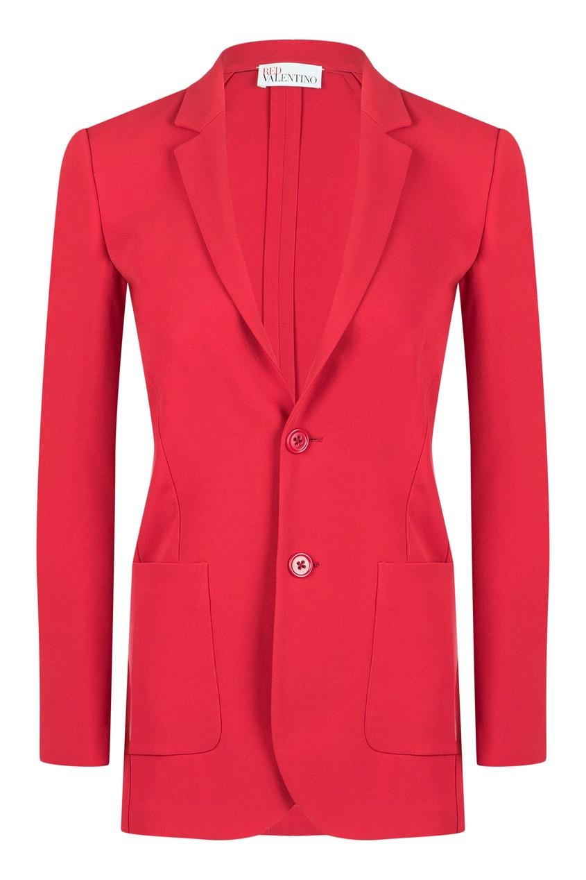 женский жакет red valentino, красный