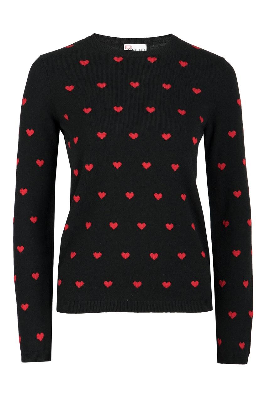 женский джемпер red valentino, черный
