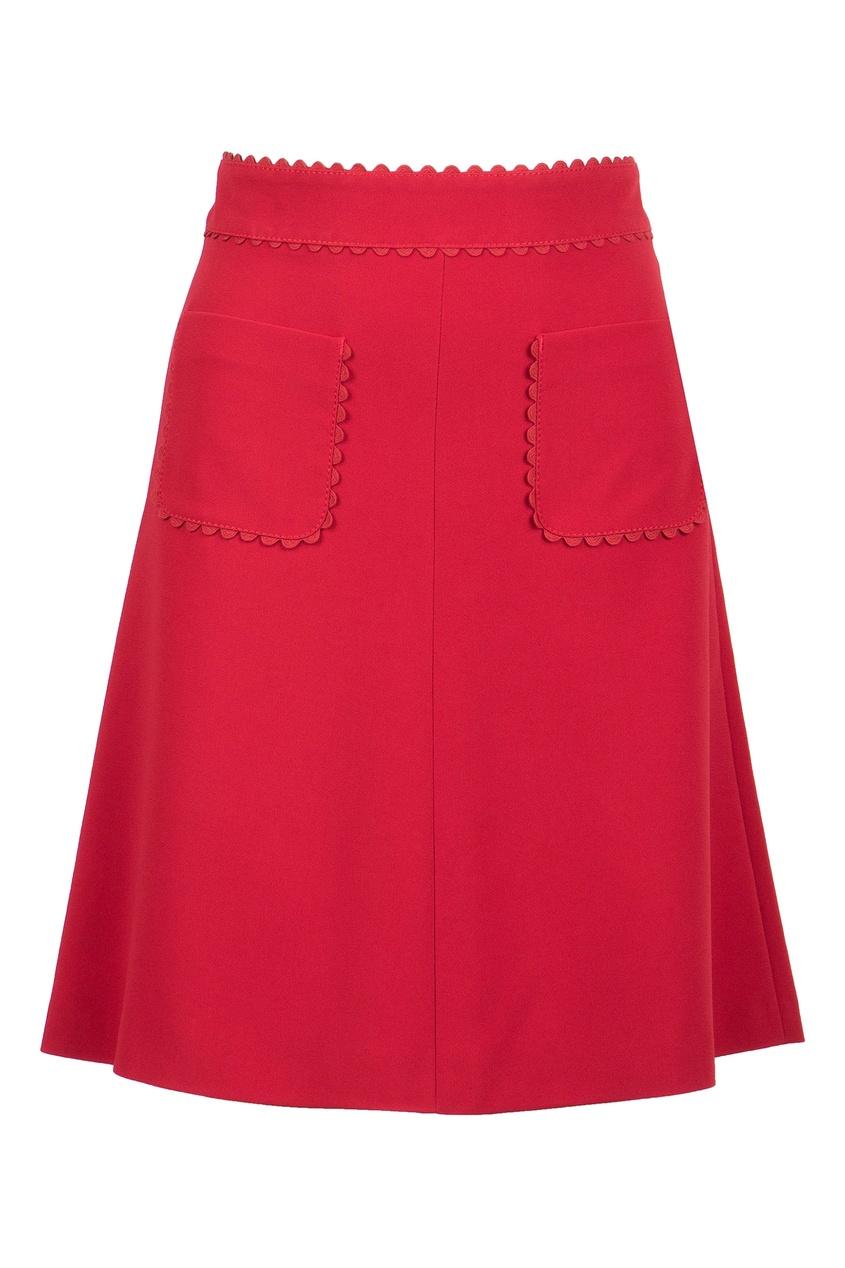 женская юбка мини red valentino, красная