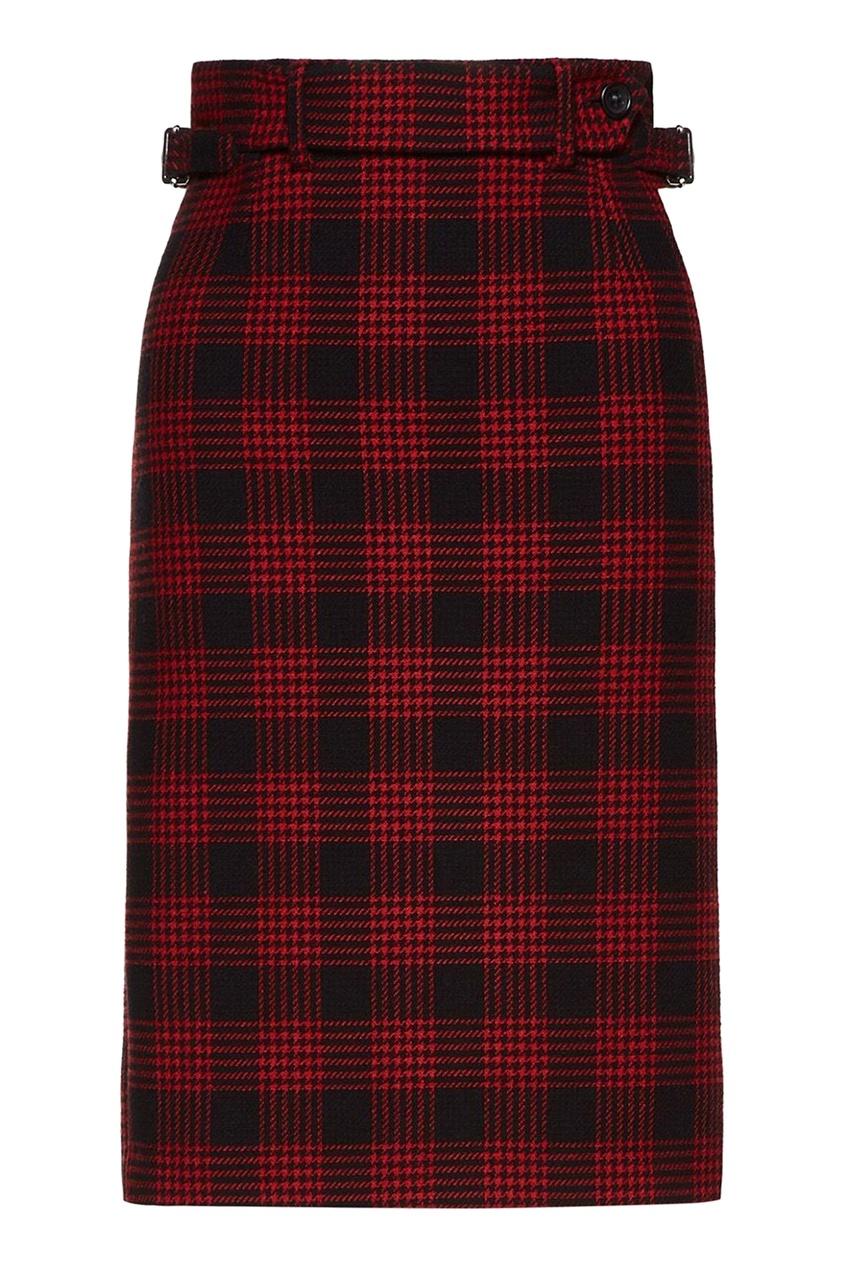женская юбка-футляр red valentino, красная
