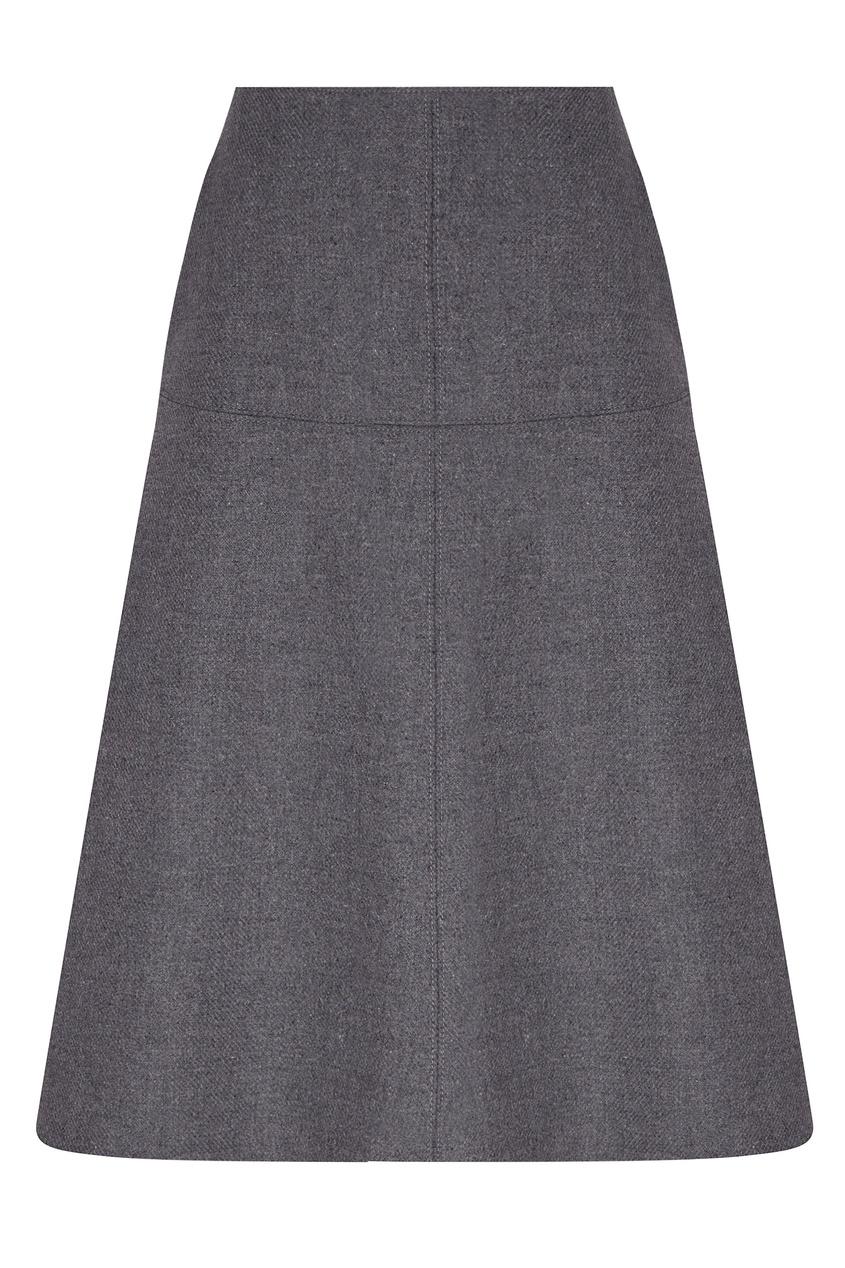 женская шерстяные юбка stella mccartney, серая