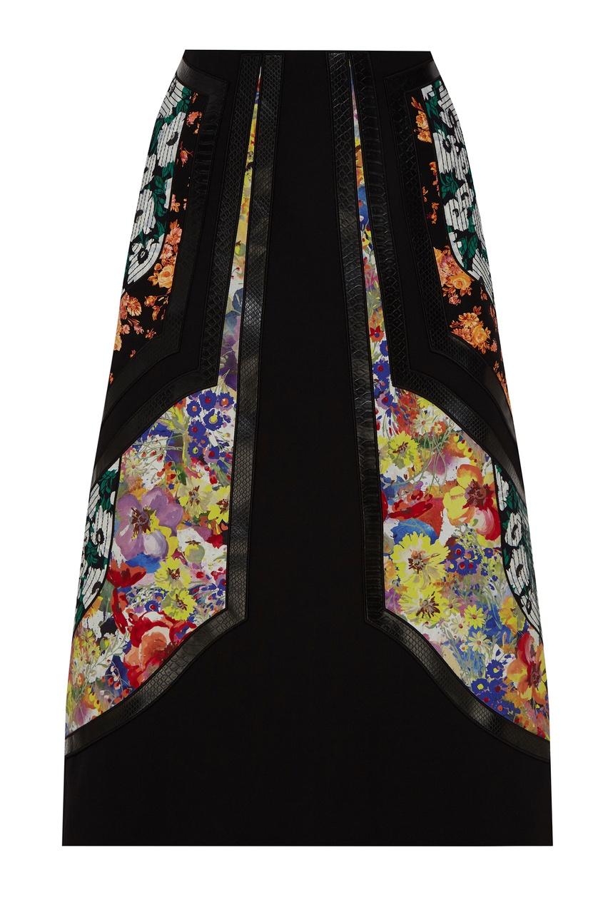 женская юбка stella mccartney, черная