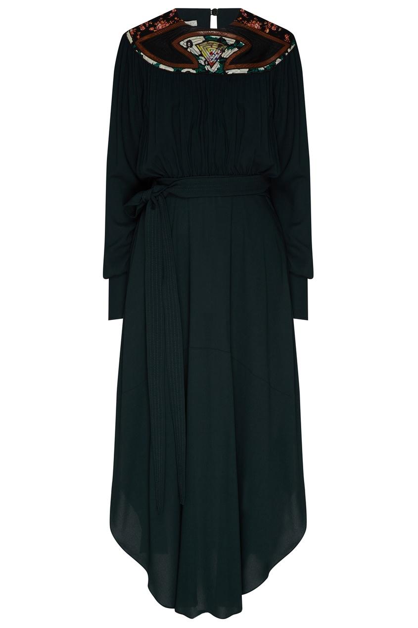 женское платье stella mccartney, зеленое