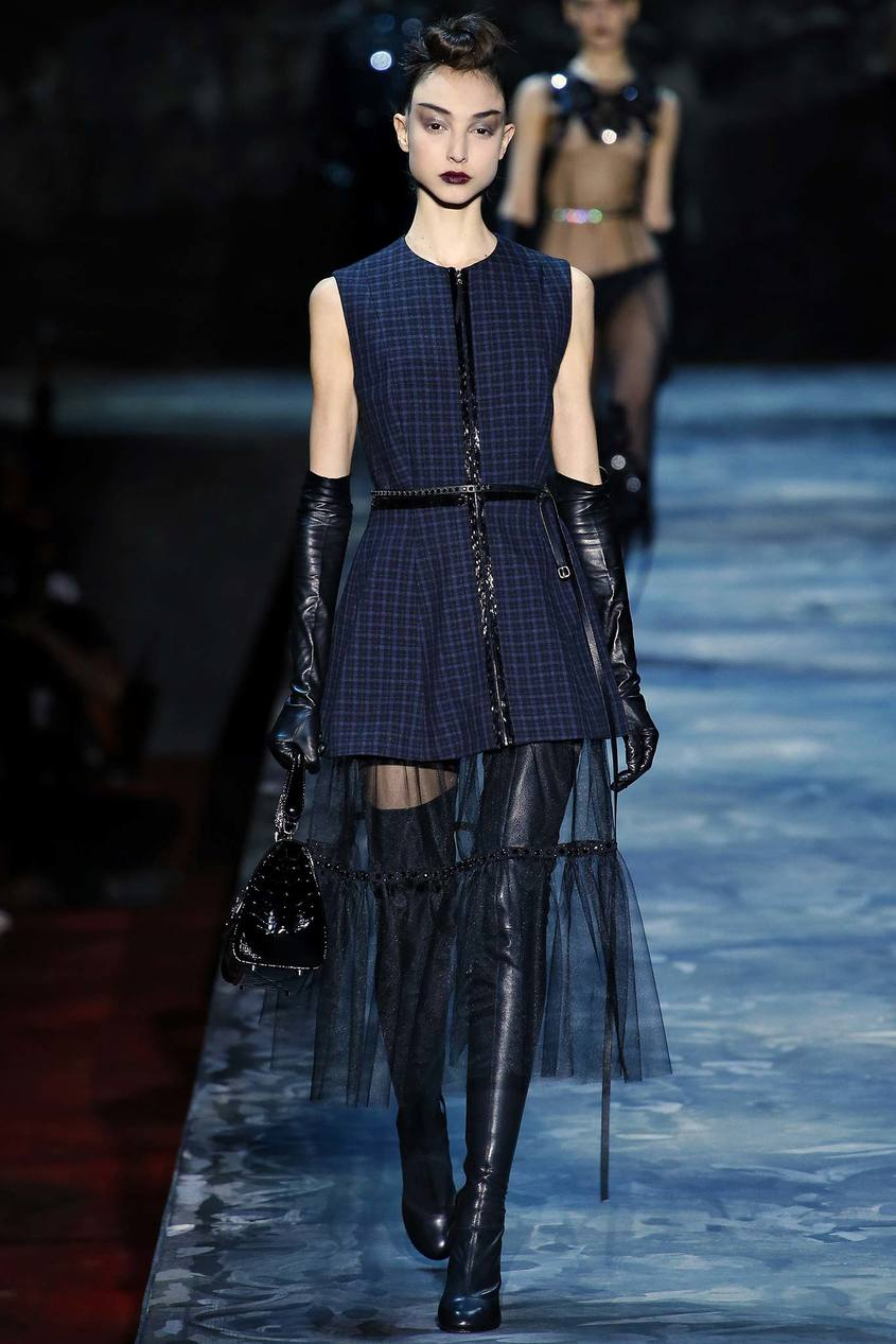 Полупрозрачная юбка