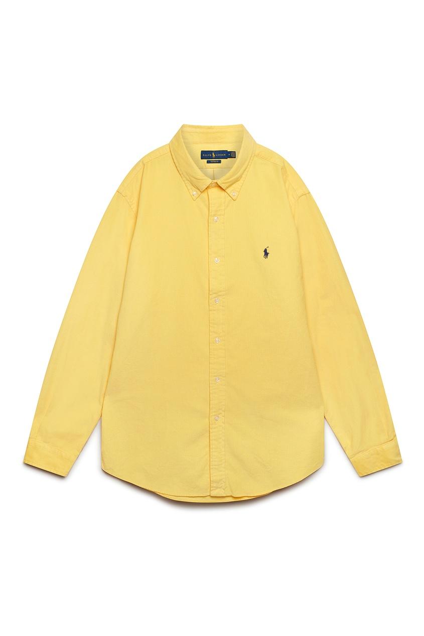мужская рубашка polo ralph lauren, желтая