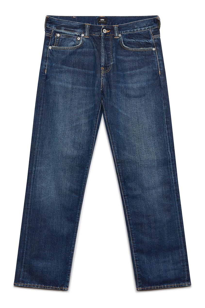 мужские прямые джинсы edwin, синие