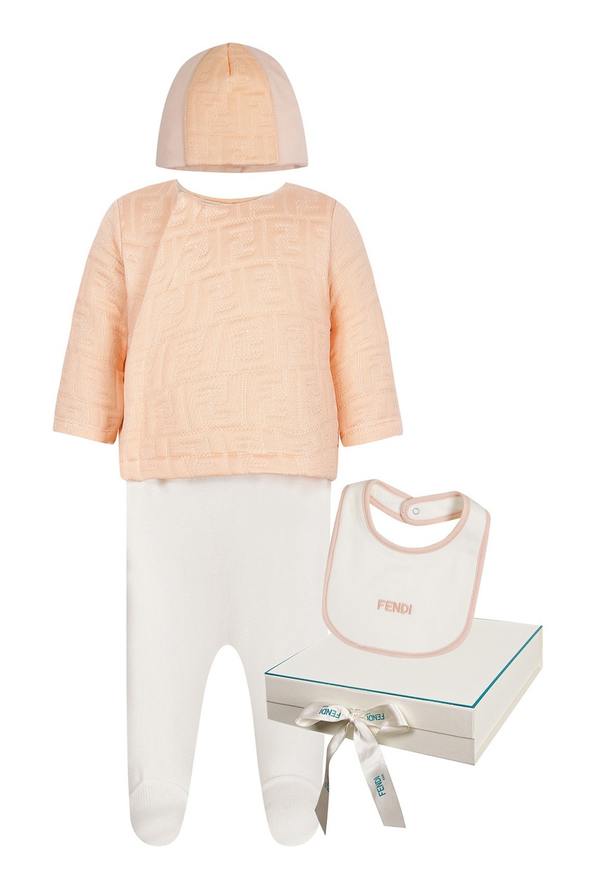 Персиково-белый комплект из трех предметов от Fendi