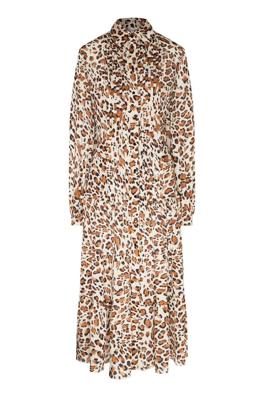 женское платье yana dress, коричневое