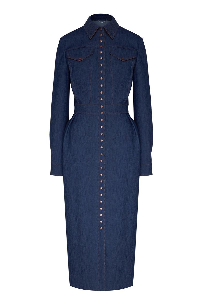 женское платье yana dress, синее