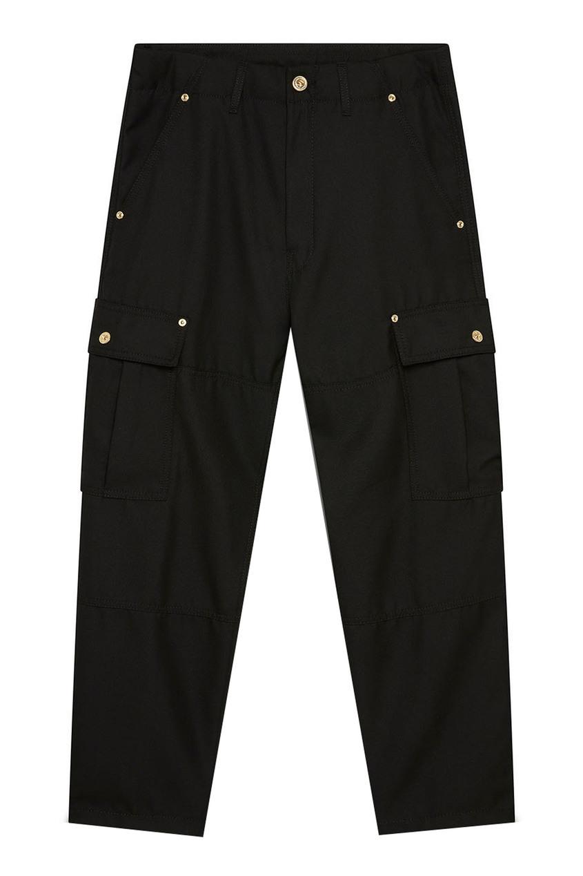 мужские брюки versace, черные