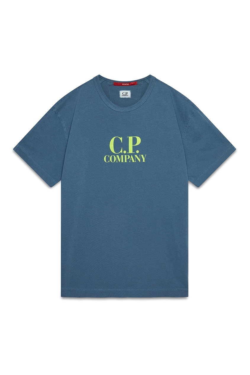мужская футболка c.p. company, синяя