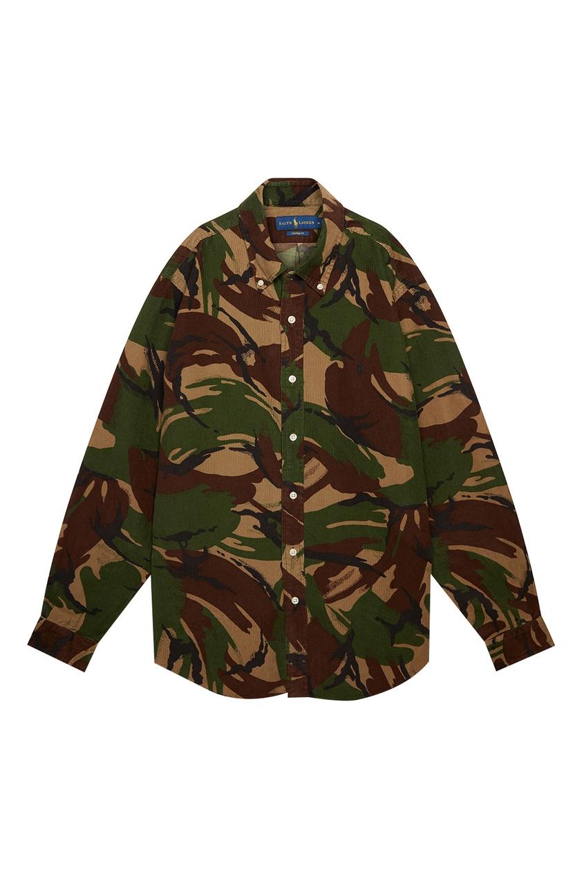 мужская рубашка polo ralph lauren, зеленая