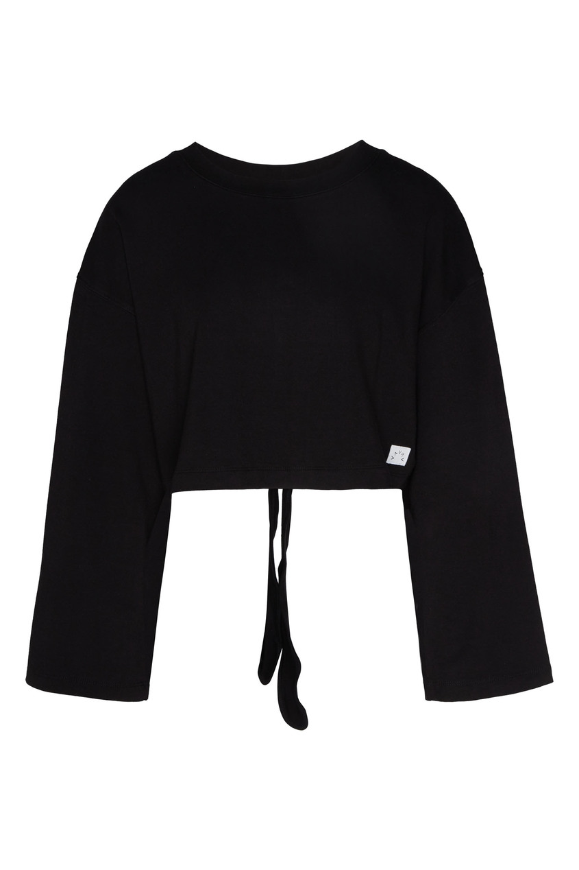 женский укороченные свитшот varley, черный