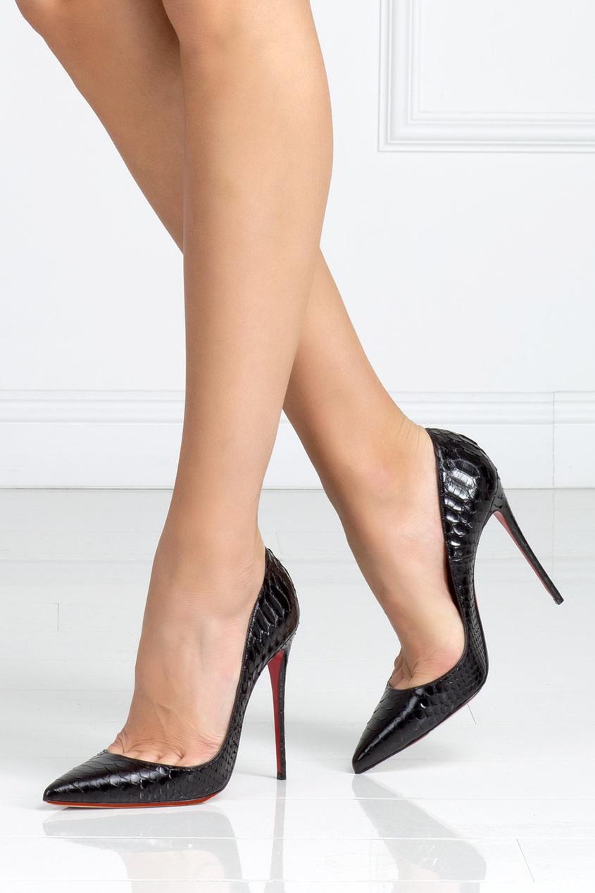 Туфли из кожи питона So Kate 120