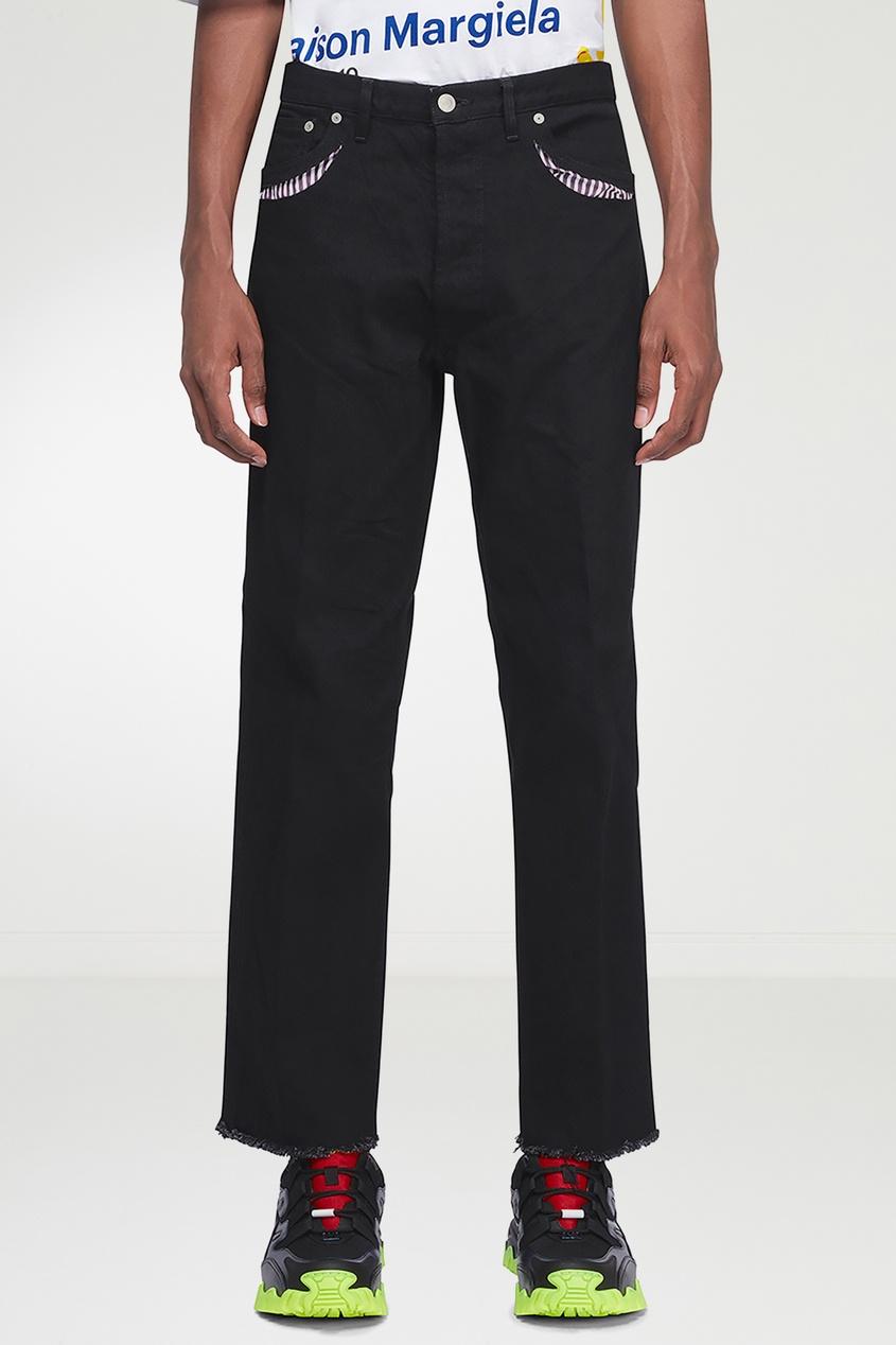мужские джинсы maison margiela, черные