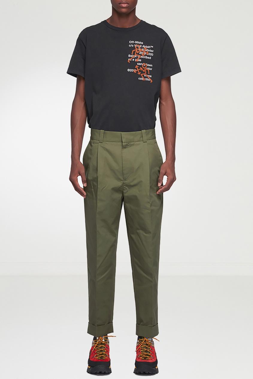 мужские брюки acne studios, зеленые