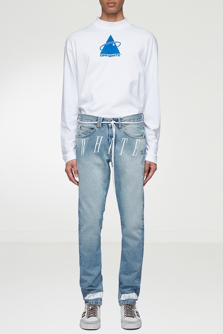 мужские джинсы off-white, синие