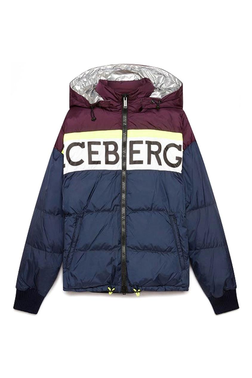 мужская куртка iceberg, синяя