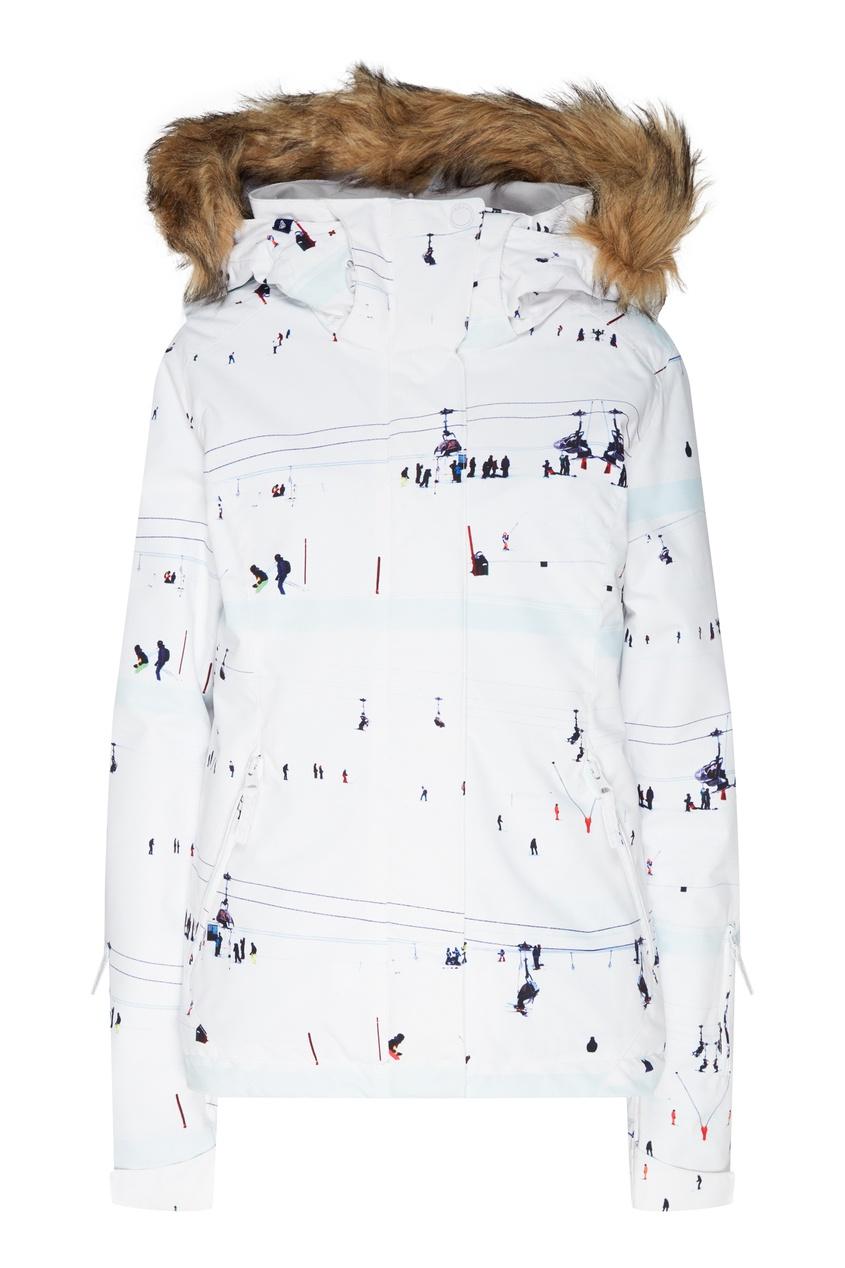 женская сноубордические куртка roxy, белая
