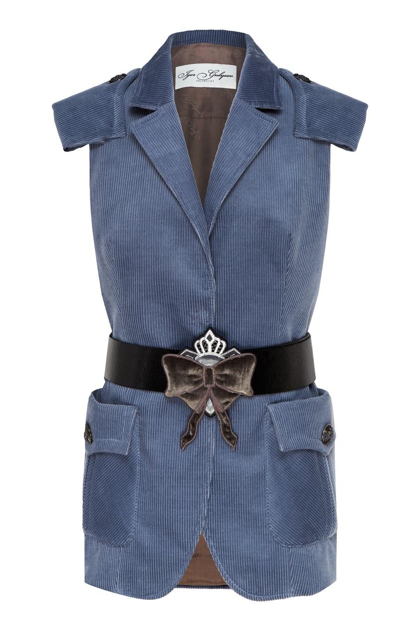 женский жилет igor gulyaev, голубой