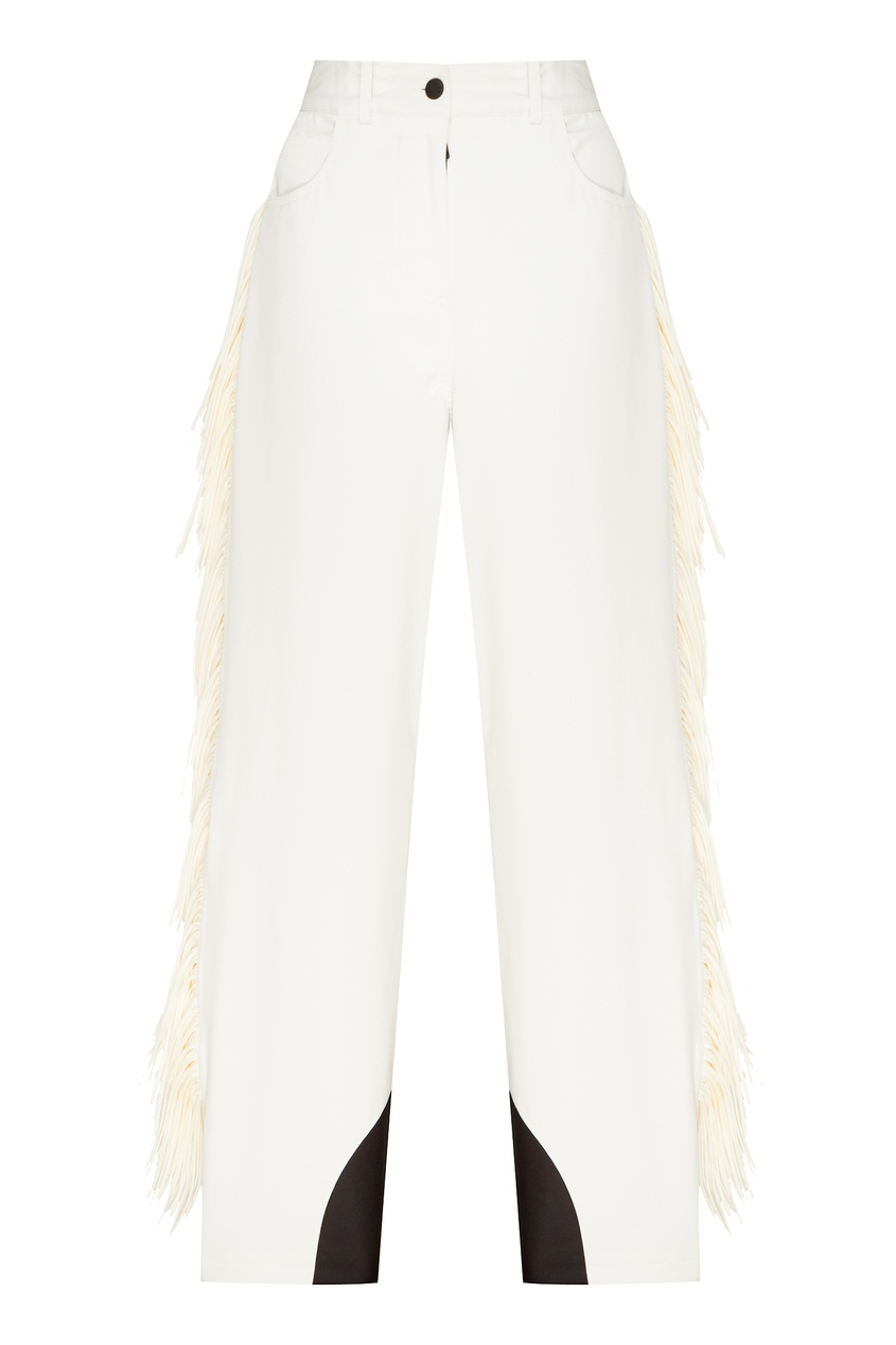 женские брюки moncler, белые