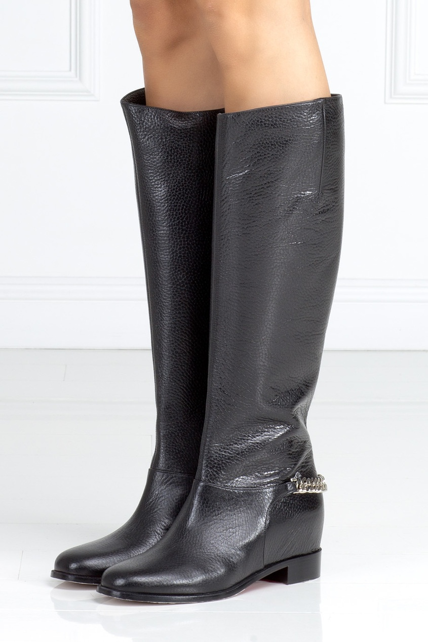 Christian Louboutin Кожаные сапоги Cate Boot Flat christian louboutin кожаные сапоги napaleona 70