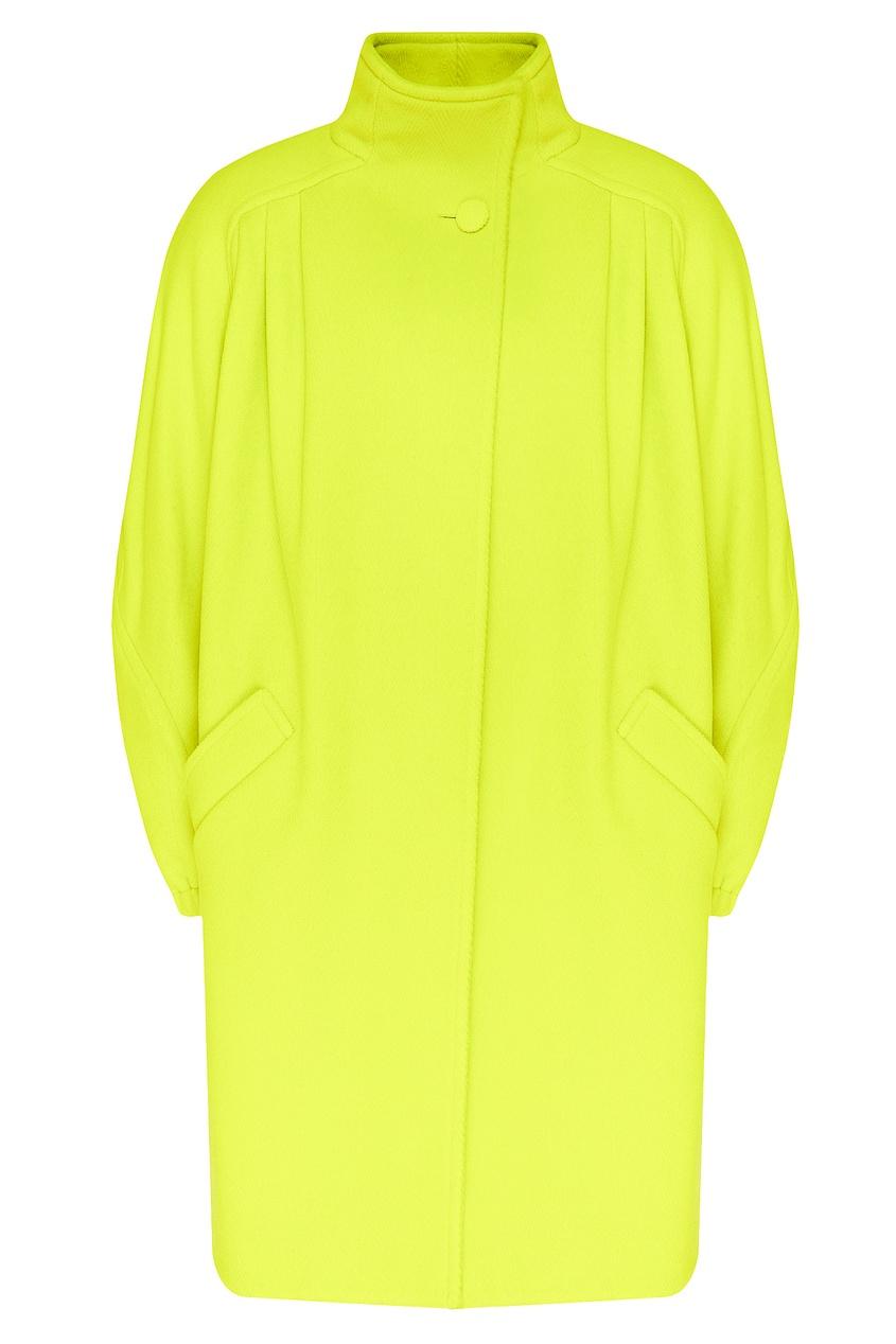 женское пальто balenciaga, желтое