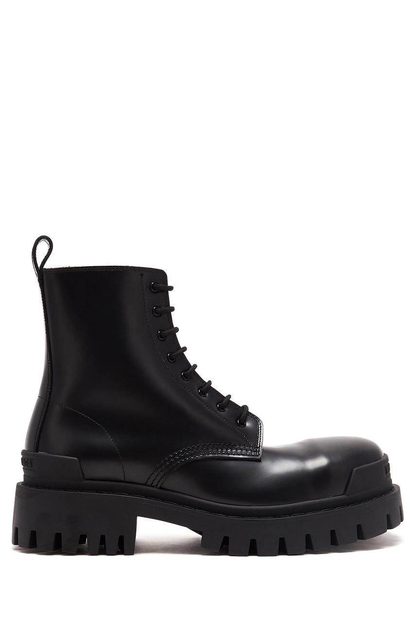 женские ботинки balenciaga, черные