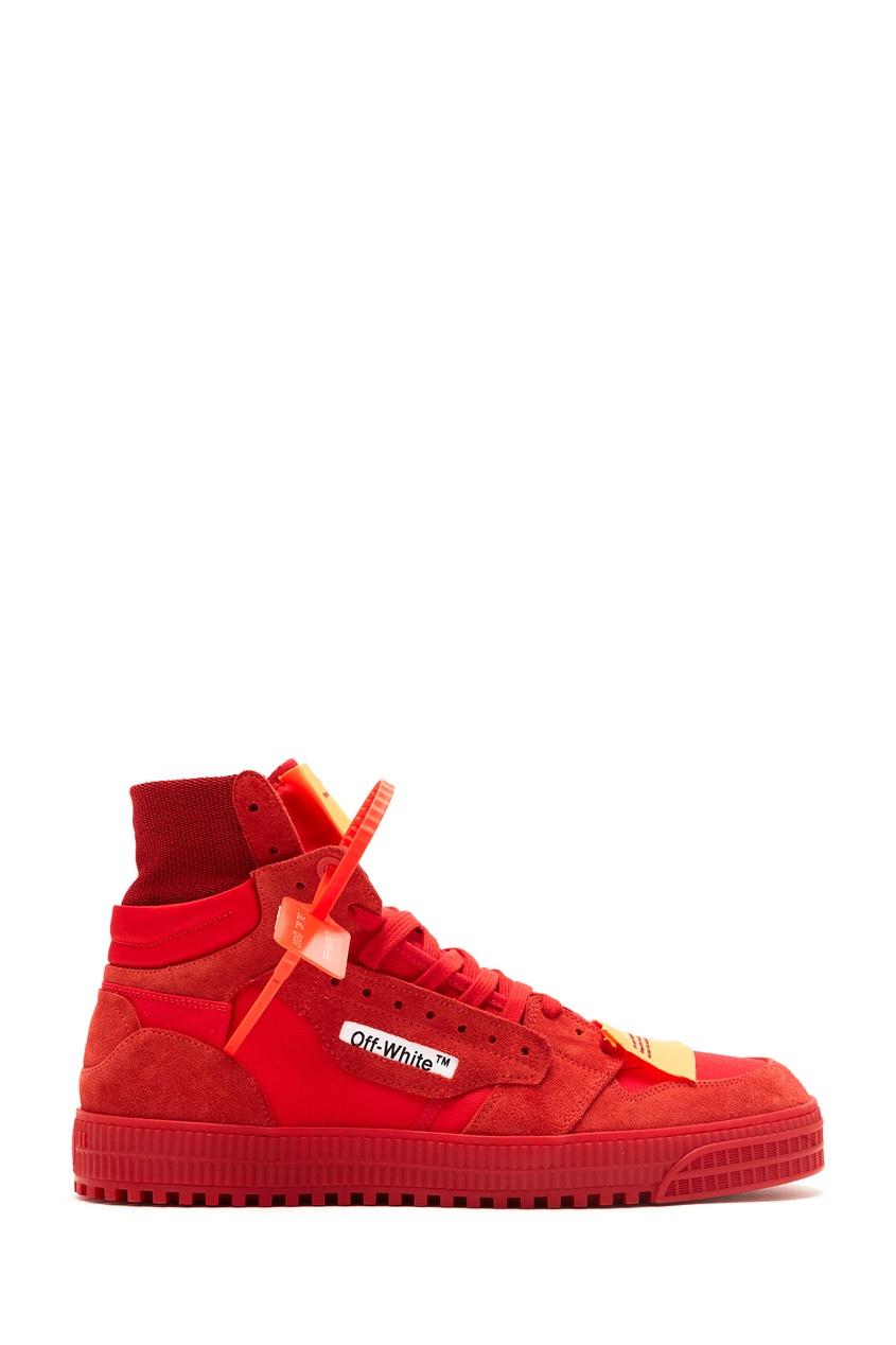 мужские кроссовки off-white, красные