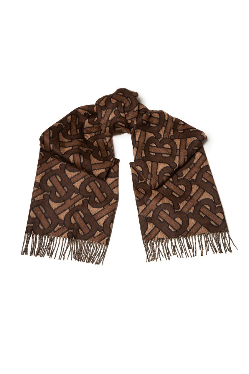 женский шарф burberry, коричневый