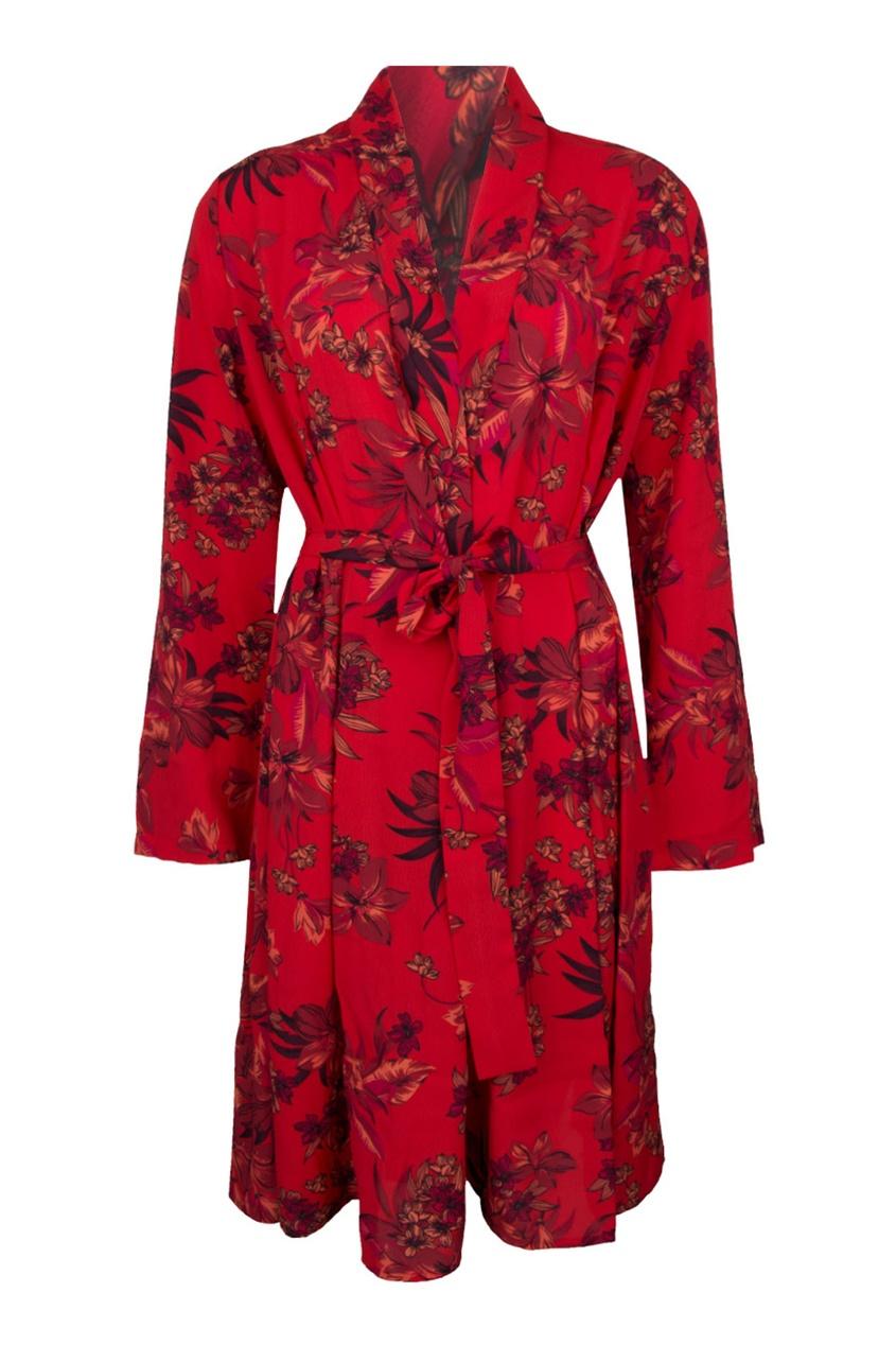 женский халат lise charmel, красный