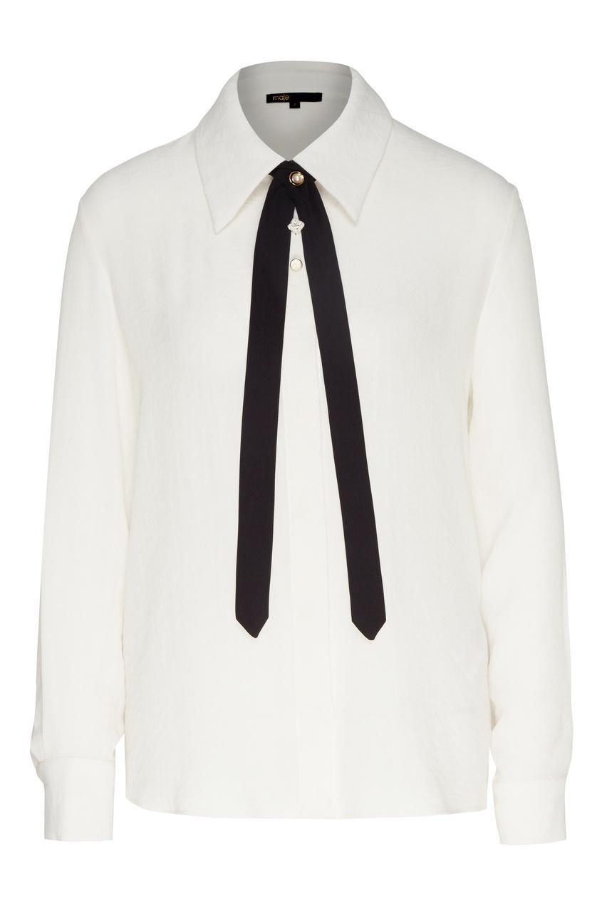 Блуза с галстуком от Maje
